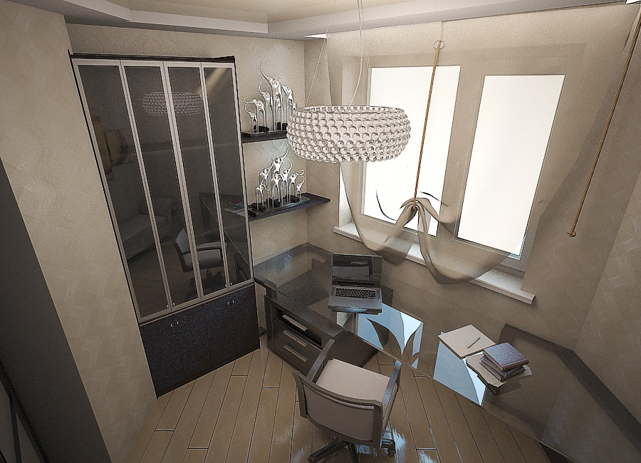 дизайн кухни-гостиной 6