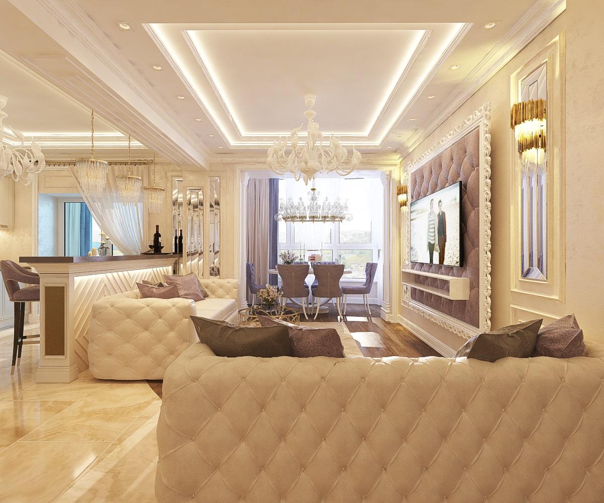 дизайн холла в 4-комнатной квартире