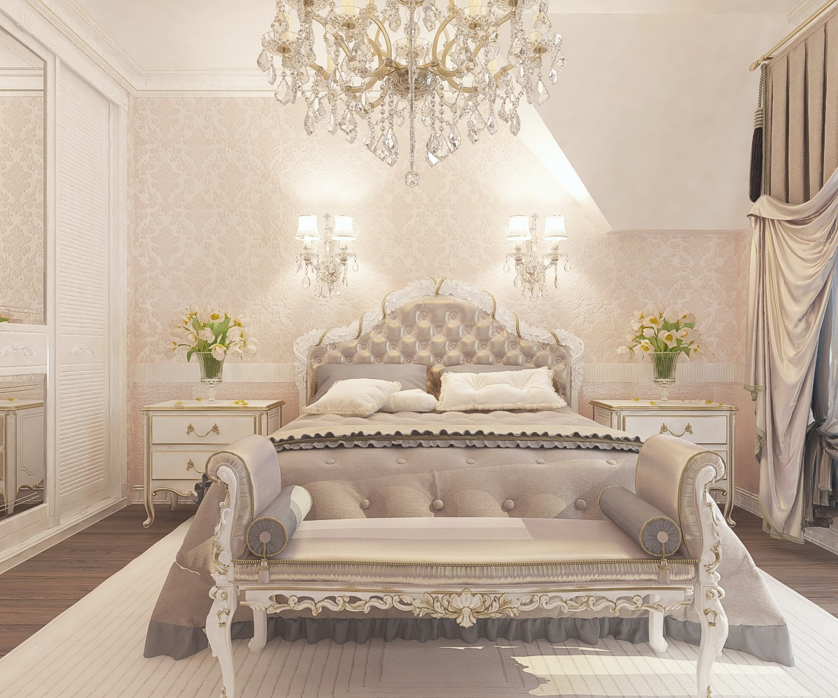 Дизайн спальни на мансардном этаже
