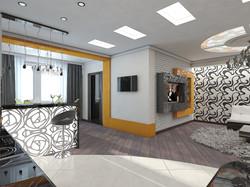 дизайн кухни-гостиной 3