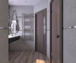 интерьер душевой комнаты в бане