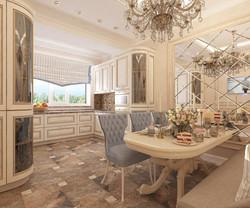 дизайн кухни в 4-комнатной квартире