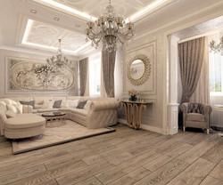 дизайн гостиной-холла
