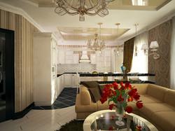 дизайн кухни-гостиной 5