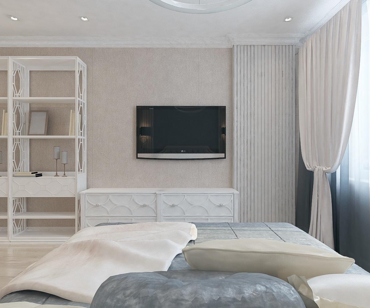 спальня в 3-комнатной квартире