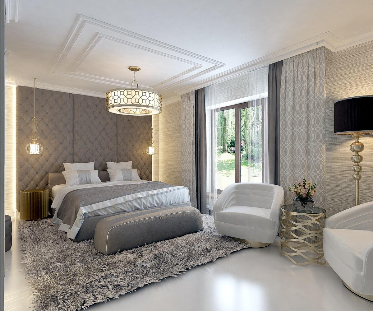 Спальня в частном домовладении