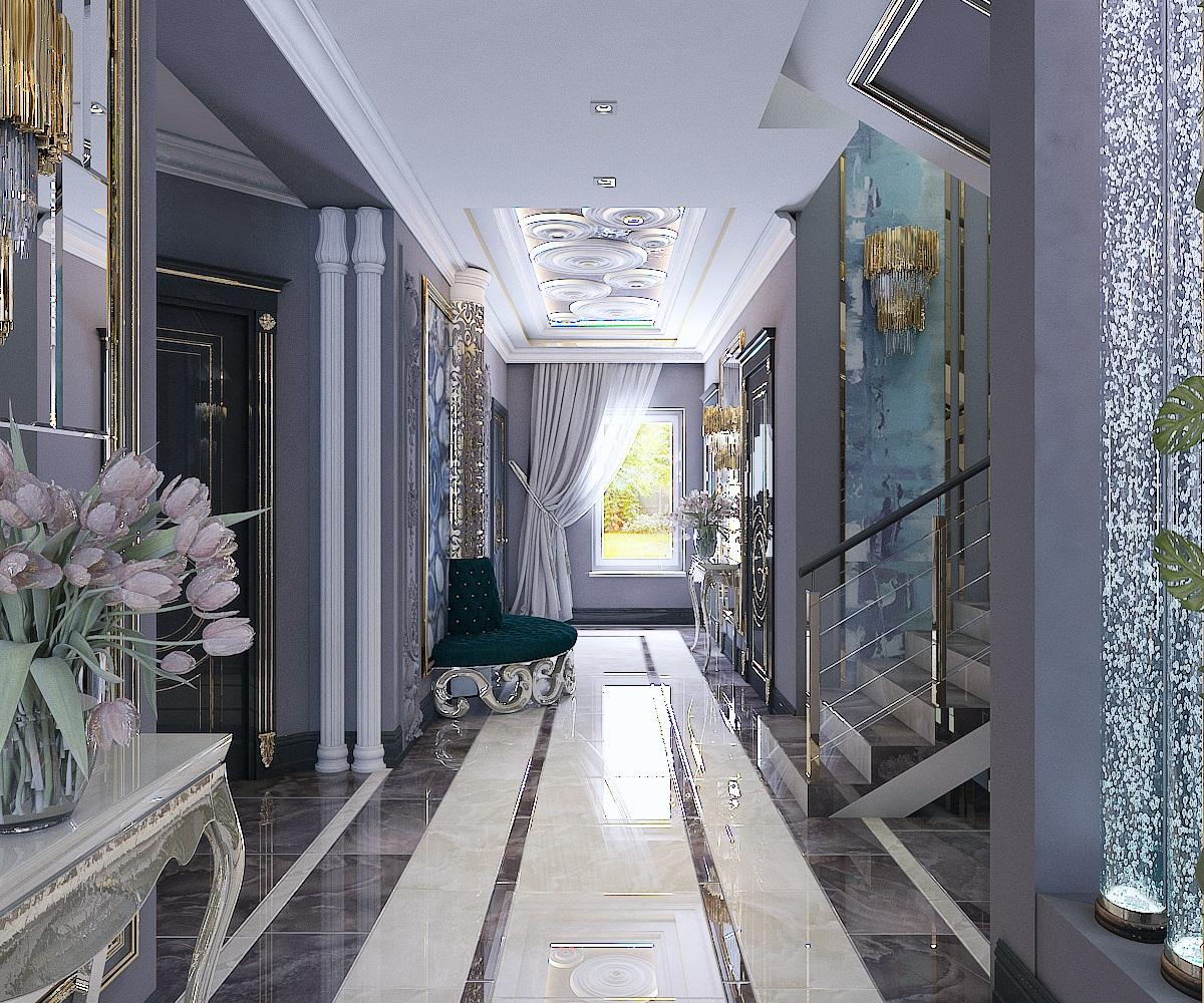 дизайн холла 1 этаж