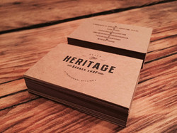 Heritage Business Cards on Kraftpak