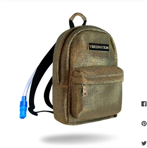 Coachella Vibedration Hydration Gold Backpack
