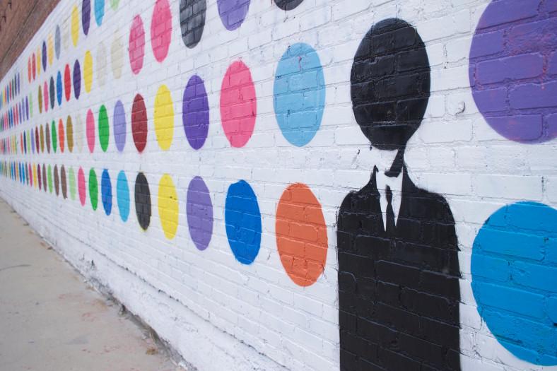Polka Dot Wall LA