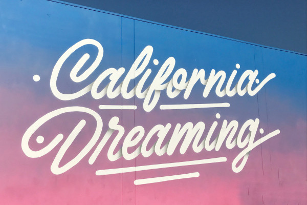 California Dreaming LA Wall
