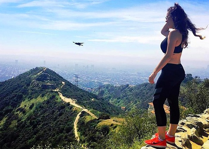 Los Angeles Hike With Hawk