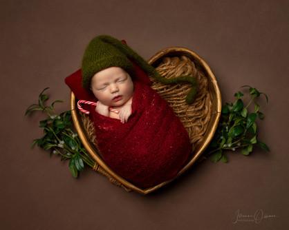 Cotswolds Christmas Newborn Photoshoot
