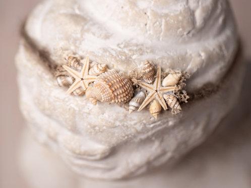 Large Seashell Mermaid Newborn Tieback Headband