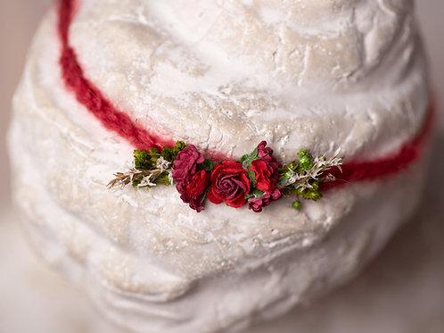 Red Rose Newborn Tieback Headband