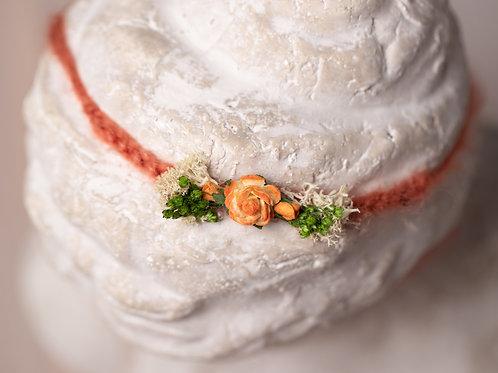 Orange Rose Newborn Tieback Headband
