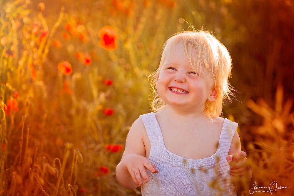 Cotswold Baby Photographer Joanna Osborne Poppy Field Photoshoot