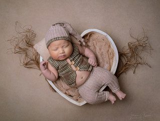 6 Week Old Baby Photoshoot