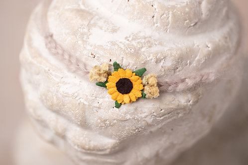 Sunflower Newborn Tieback Headband