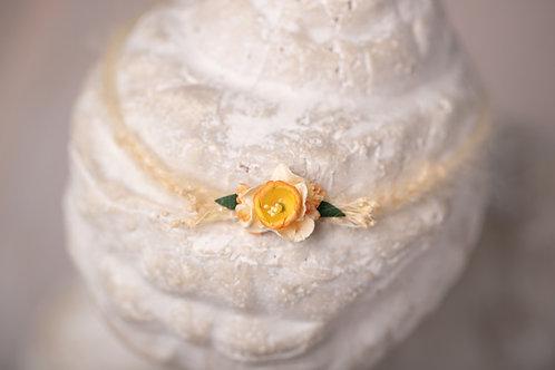 Daffodil Newborn Tieback Headband
