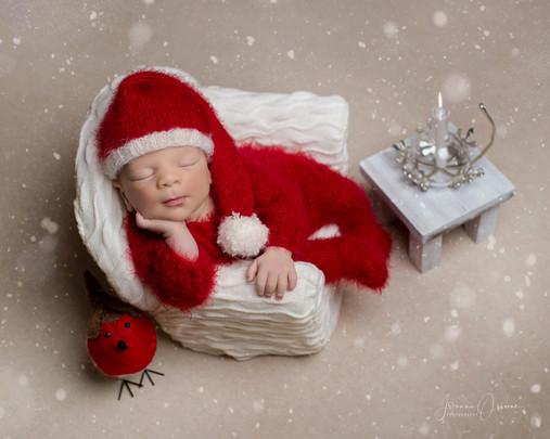 Cotswolds Chritmas Newborn Photoshoot