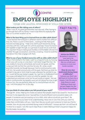Employee Highlight - December 2020