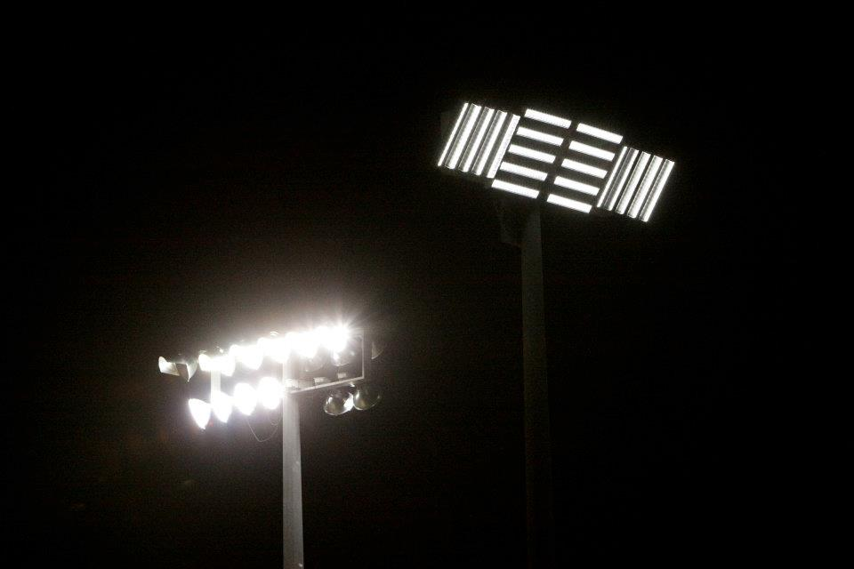 ActiveLED next to old stadium lights