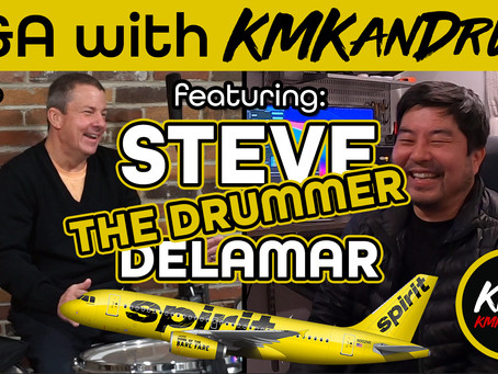 """Q&A with KMKanDrum Episode 23 Featuring Steve """"The Drummer"""" Delamar"""
