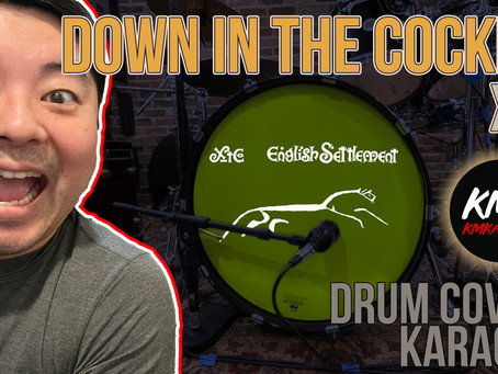 """""""Down in the Cockpit"""" by XTC - Drum Cover & Karaoke Performance by KMKanDrum"""