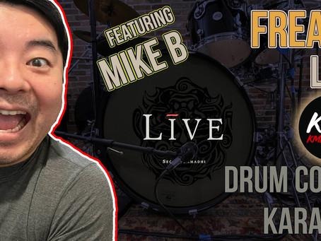 """Freaks"" (Live) KMKanDrum Cover + Karaoke featuring Mike B on Guitars"