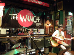 Playing Plastik Glasses songs at The Wanch in Hong Kong c. 2012