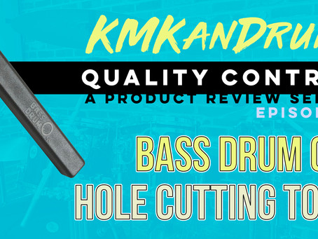 Bass Drum O's Hole Cutting Tool Review by KMKanDrum