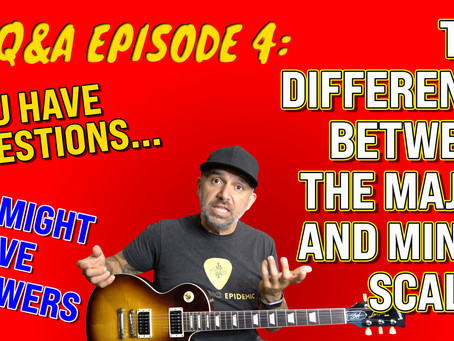 The difference between the major and minor scales