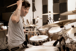 KMKanDrum in the studio