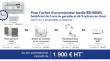 EPSON Vidéoprojecteur Interactif à un prix imbattable....