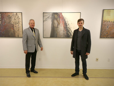 At a personal exhibition. Toronto