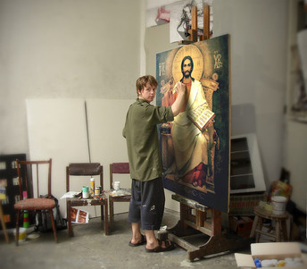 Work on the image of Jesus Christ