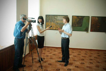Interview after the exhibition at the Livadia Palace