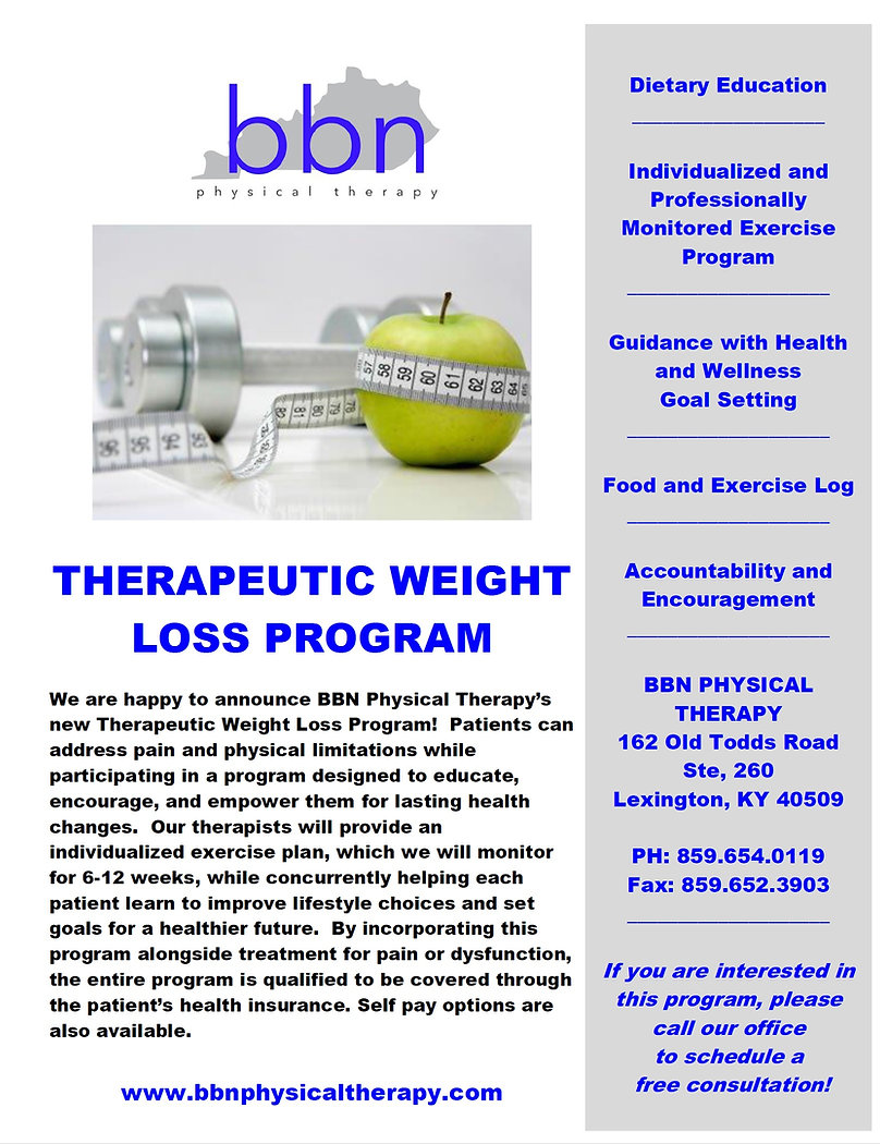 THerapeutic Weight Loss, Lexington, Physical Therapy, 40509