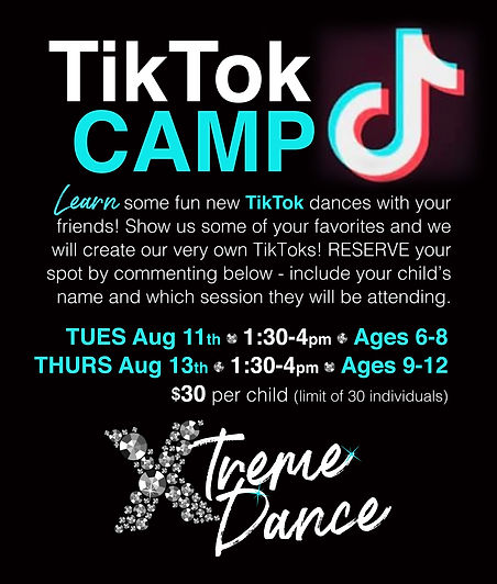 04 2020 Xtreme Dance TIKTOK POSTER -yes.