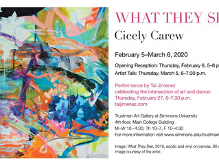 """""""What They See"""" @Trustman Art Gallery, 2/6!"""