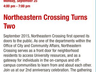 Monday, September 25, 4-7pm - OPENING RECEPTION @ Northeastern University Crossing!! ✨❣️