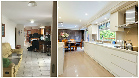 before and after long view of kitchen.jp