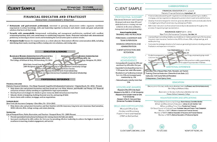 sample resumes for experienced it professionals