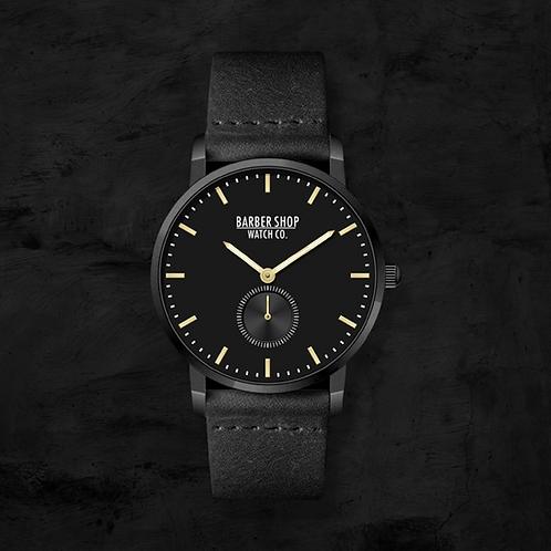 Barber Shop Watch Co. - Black on Black