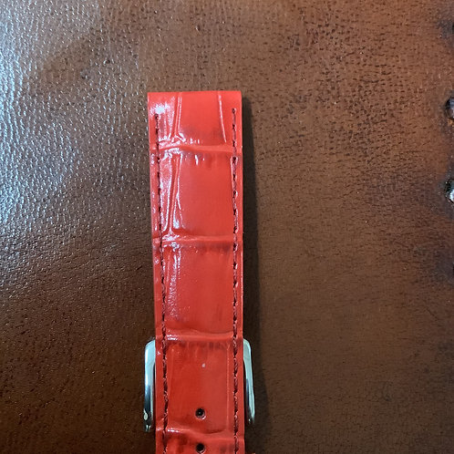 18mm rochet croco grain calf red leather band