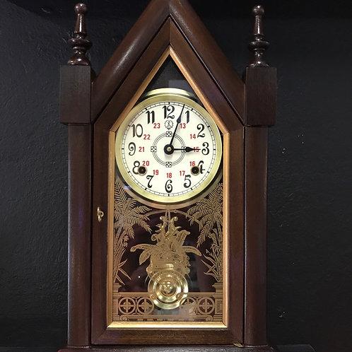 Mechanical wind up timber clock