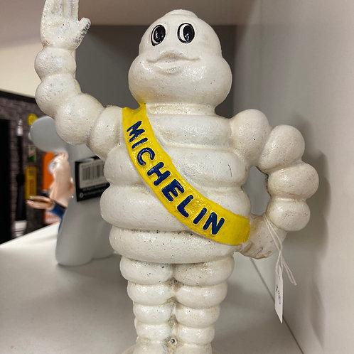 Michelin man waving