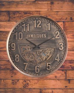 60cm wide gear wall clock