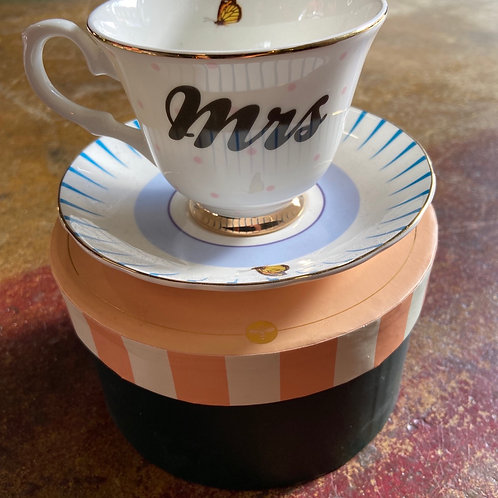Yvonne Ellen cup and saucer MRS